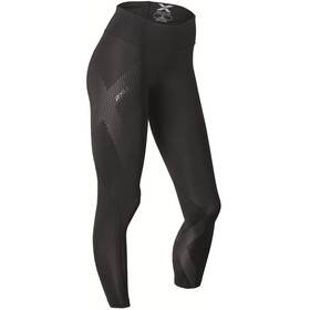 2XU W's Mid-Rise Compression Tights Black/Dotted Reflective logo